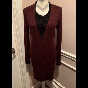 GORGEOUS NEW SWEATER DRESS & LONG CARDIGAN SIZE L